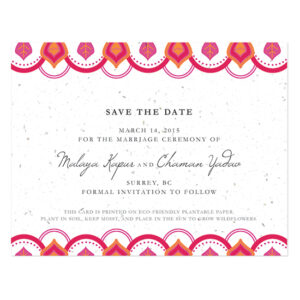 Indian Motif Plantable Save The Date Cards