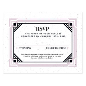 Art Deco Plantable Reply Cards