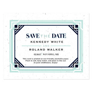Art Deco Plantable Save The Date Cards