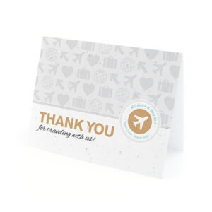 Boarding Pass Plantable Thank You Cards