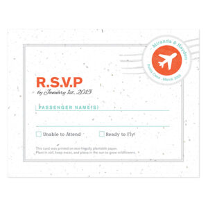 Boarding Pass Plantable Reply Cards