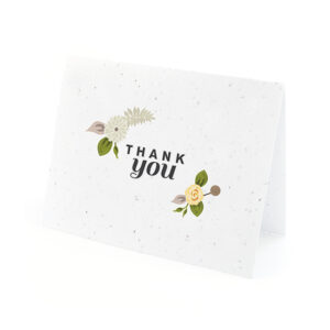 Floral Woodland Plantable Thank You Cards