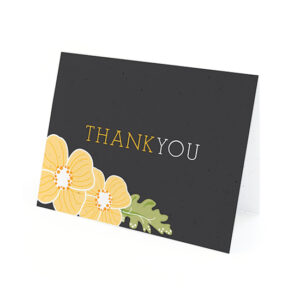 Ornate Floral Plantable Thank You Cards
