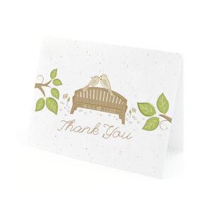 Park Birds Plantable Thank You Cards