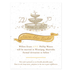 Park Birds Plantable Save The Date Cards