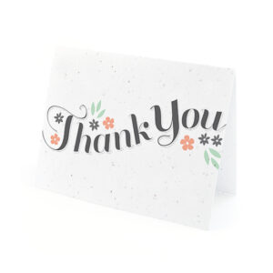 Secret Garden Plantable Thank You Cards