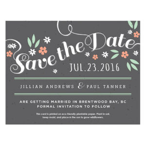 Secret Garden Plantable Save The Date Cards