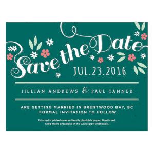 Secret Garden Plantable Save The Date Cards