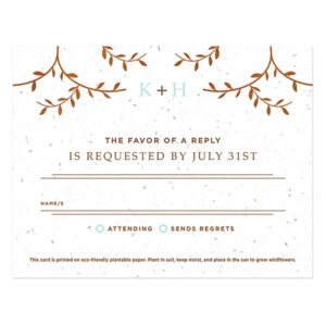 Classic Wood Grain Plantable Reply Cards
