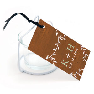 Classic Wood Grain Plantable Favor Tags