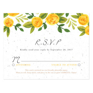 Watercolor Roses Plantable Reply Cards