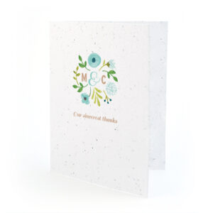 Painterly Florals Plantable Thank You Cards
