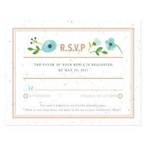 Painterly Florals Plantable Reply Cards