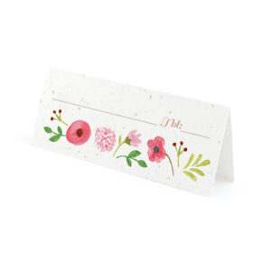 Painterly Florals Plantable Place Cards