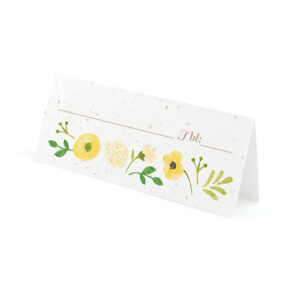 Painterly Florals Plantable Place Cards