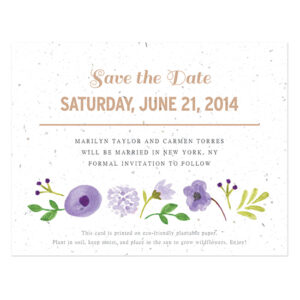 Painterly Florals Plantable Save The Date Cards