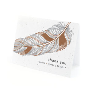 Feather Plantable Thank You Cards