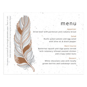 Feather Plantable Menu Cards