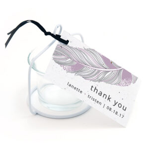 Feather Plantable Favor Tags