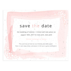 Feather Plantable Save The Date Cards