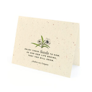 Love Grows Seed Thank You Cards