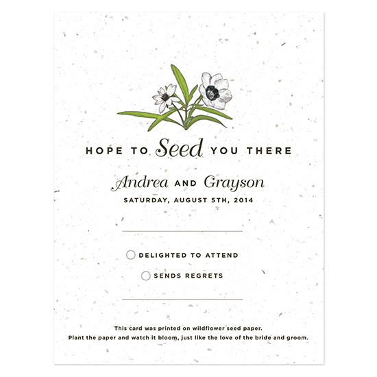 Love Grows Seed Reply Cards