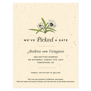 Love Grows Seed Save The Dates