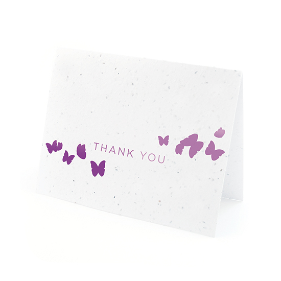 Ombre Butterfly Thank You Cards