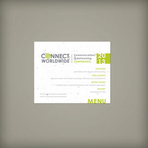 Single-Sided Small Seed Paper Panel Cards For Events