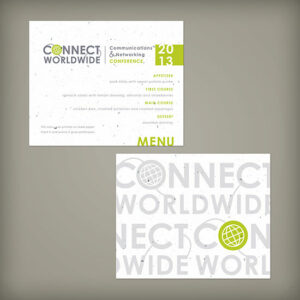 Double-Sided Small Seed Paper Panel Cards For Events