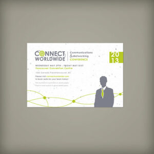 Single-Sided Medium Seed Paper Panel Cards For Events