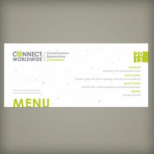 """Single-Sided 4 x 9 Seed Paper Panel Cards For Events"""""""