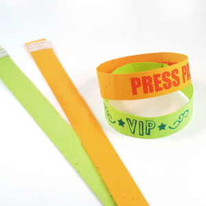 Single Sided Seed Paper Wristbands Long