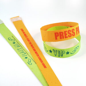 Double Sided Seed Paper Wristbands Long