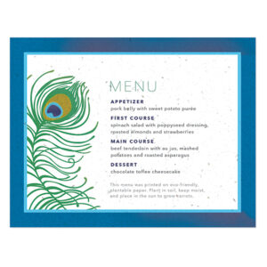 Peacock Menu Cards
