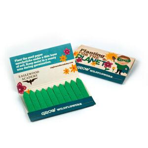 Kids Large Seed Paper Matchbooks