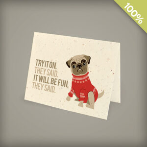 Pug Corporate Holiday Cards