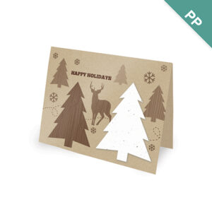 Rustic Woodland Corporate Holiday Cards
