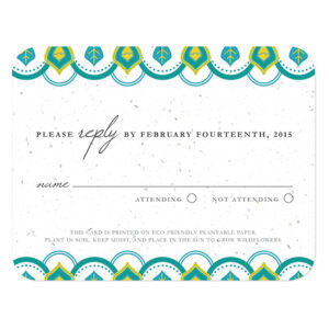 Indian Motif Plantable Reply Cards