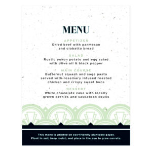 Art Deco Plantable Menu Cards