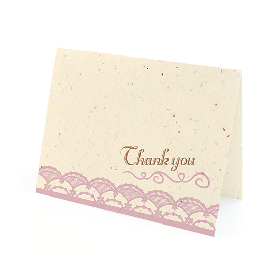 Rustic Lace Plantable Thank You Cards