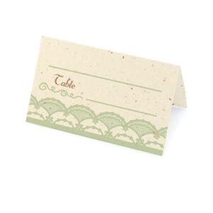 Rustic Lace Plantable Place Cards