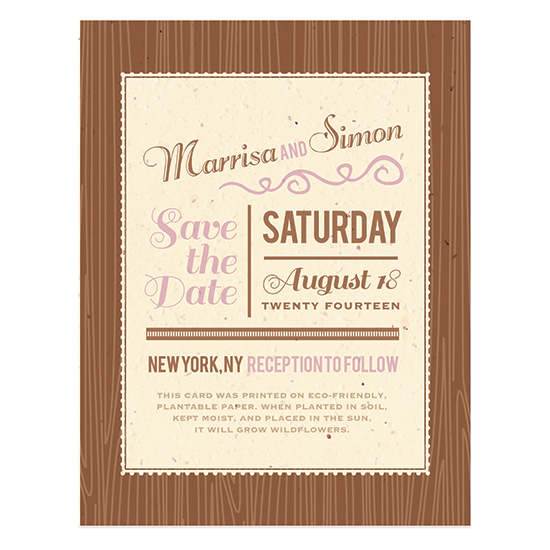 Rustic Lace Plantable Save The Date Cards