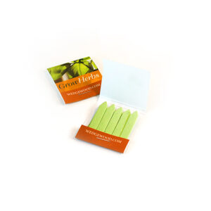 Small Herb Seed Paper Matchbooks, Single-Sided