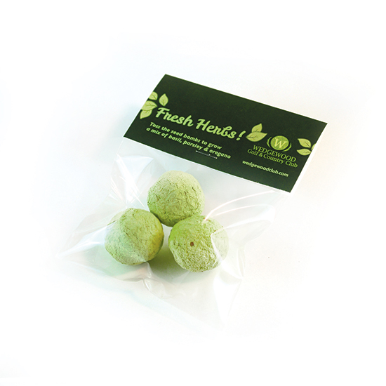 Herb Seed Bombs Cellopack 3