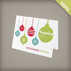 French Holiday Ornaments Corporate Holiday Cards