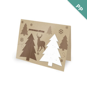 French Rustic Woodland Corporate Holiday Cards