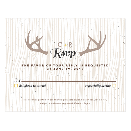 Floral Woodland Plantable Reply Cards