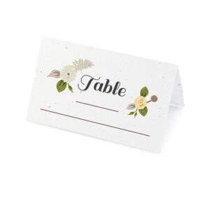 Floral Woodland Plantable Place Cards