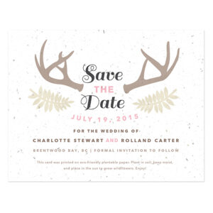 Floral Woodland Plantable Save The Date Cards